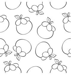 Fruit style pattern hand draw vector