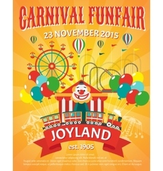 Funfair poster vector image vector image