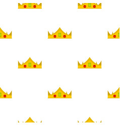 Gold royal crown pattern seamless vector