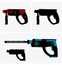Hammer drill vector image vector image