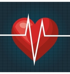 heart beat isolated icon design vector image