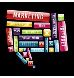 Internet Marketing speech bubble vector image vector image