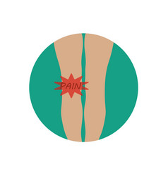 knee pain vector image vector image
