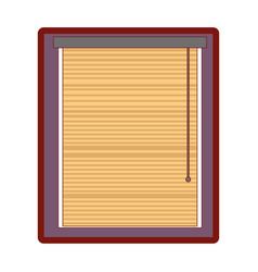 Line color window with blind curtain close design vector