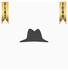 Mens hat icon vector
