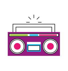 Retro radio isolated icon vector