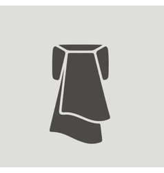 Scarf icon on background vector