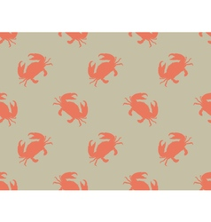 Seamless crab pattern vector image