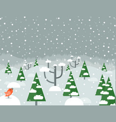 snow in the woods2 vector image vector image