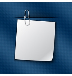The paper clipped to the blue cloth vector