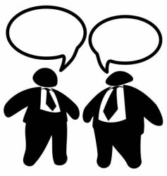 two big fat business men vector image vector image