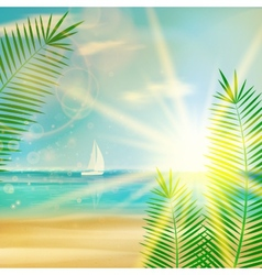 Vintage summer beach design vector image