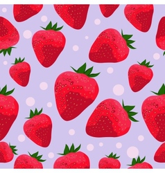 seamless pattern with strawberries vector image