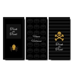 Happy halloween collections banner vertical vector