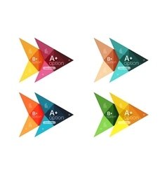 Colorful arrow option infographics vector