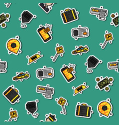 colored taxi pattern vector image