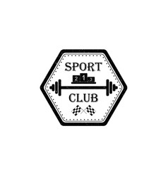 Sport club logo in vintage style vector