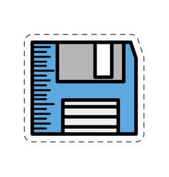 Cartoon floppy disk storage information vector