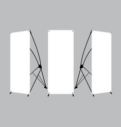 Set of blank x-stand banners display vector