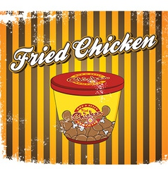 Fried chicken vector