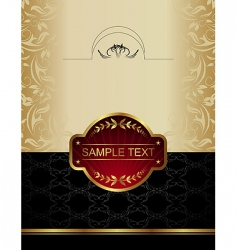 Gold wine label vector