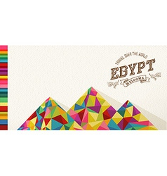 Travel egypt landmark polygonal monument vector