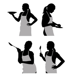 Girl in the kitchen vector