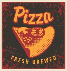 Retro pizza vector