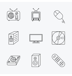 Sound club music and retro radio icons vector
