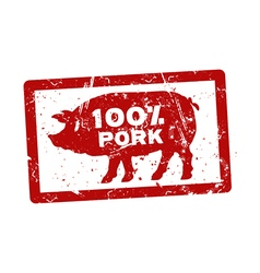 Grunge red rubber stamp with the text 100 percent vector