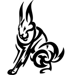 Hare in tribal style - vector