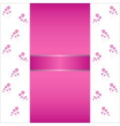 Valentin heart flowers background or card vector