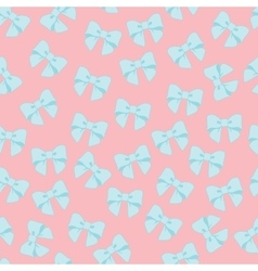 Seamless pattern with pastel bows on a vector
