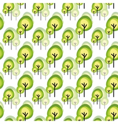 Abstract green tree seamless pattern vector
