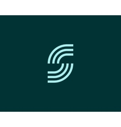 Line letter s logotype abstract moving airy logo vector
