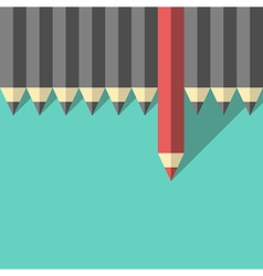 Red unique different pencil vector image