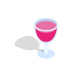 Alcohol cocktail icon isometric 3d style vector