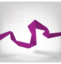 Purple paper curve vector