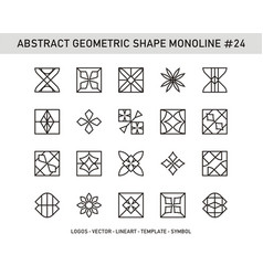 abstract geometric shape monoline 24 vector image