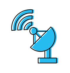 Antena satelite isolated icon vector