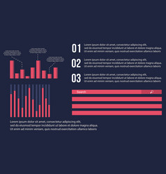 Background style graphic and data business vector