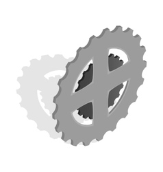Bike chain star icon isometric 3d style vector