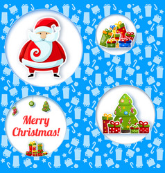 blue christmas composition vector image vector image