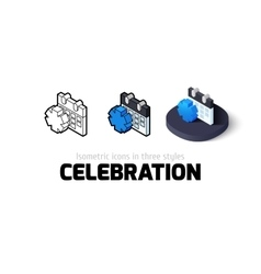 Celebration icon in different style vector image vector image