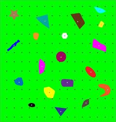 Climbing wall pattern vector