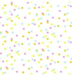 Colorful neon confetti seamless background vector