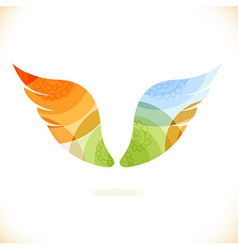 Colourful and artistic icon vector