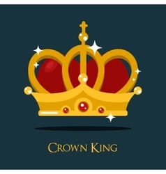 Crown of king or queen princess icon vector image