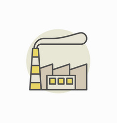 Factory building colorful icon vector