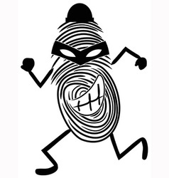 fingerprint thief vector image